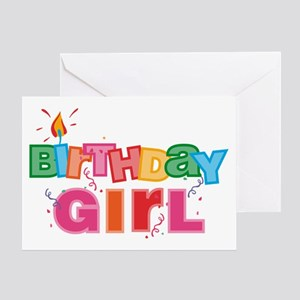 Birthday Girl Letters Greeting Card