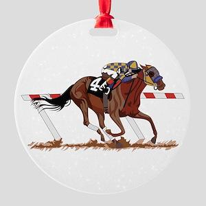 Jockey on Racehorse Ornament