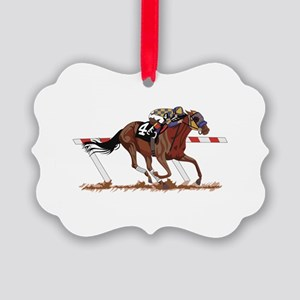Jockey on Racehorse Ornament
