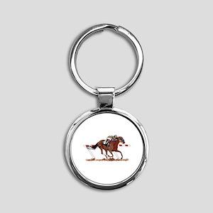 Jockey on Racehorse Keychains