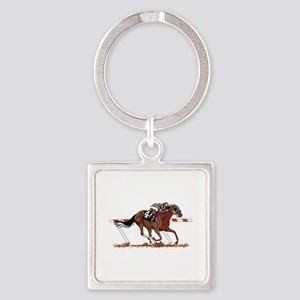 Jockey on Racehorse Keychains