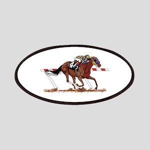 Jockey on Racehorse Patch