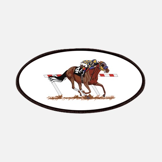 Jockey on Racehorse Patch