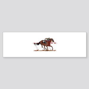Jockey on Racehorse Bumper Sticker