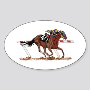 Jockey on Racehorse Sticker