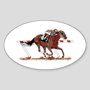 Jockey on Racehorse Sticker