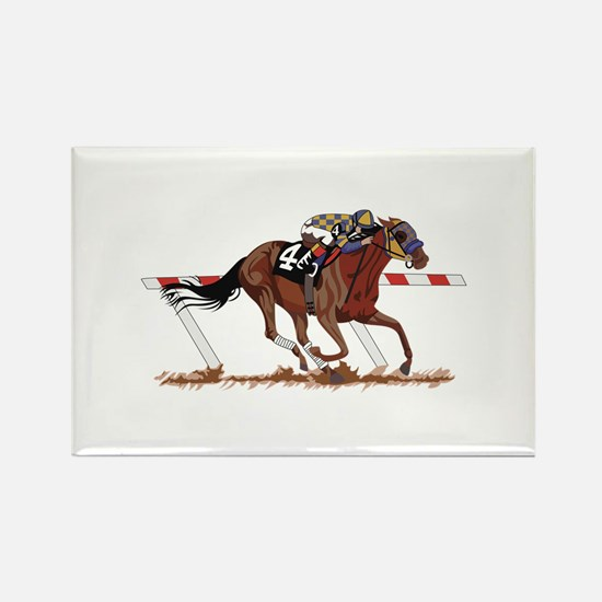Jockey on Racehorse Magnets