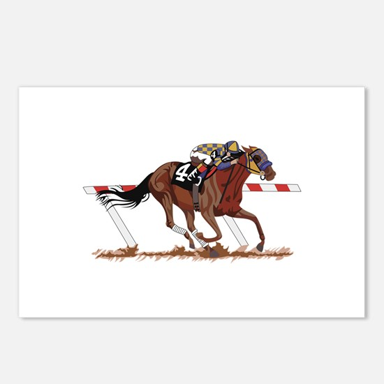 Jockey on Racehorse Postcards (Package of 8)