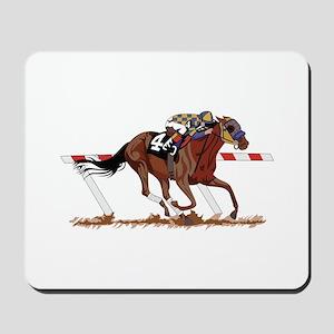 Jockey on Racehorse Mousepad