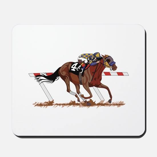 Jockey on Racehorse Mousepad