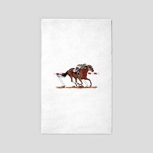 Jockey on Racehorse Area Rug