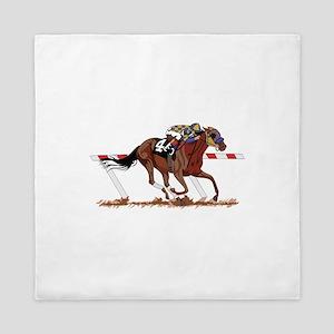 Jockey on Racehorse Queen Duvet