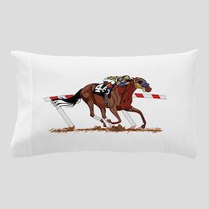 Jockey on Racehorse Pillow Case