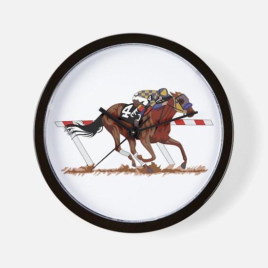 Jockey on Racehorse Wall Clock