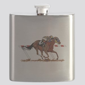 Jockey on Racehorse Flask