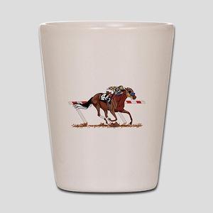 Jockey on Racehorse Shot Glass