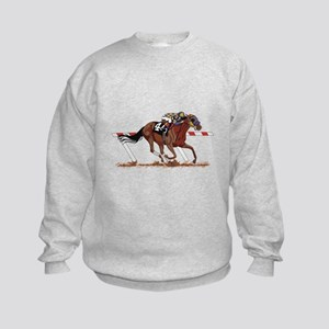 Jockey on Racehorse Sweatshirt