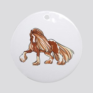 CLYDESDALE HORSE LARGER Ornament (Round)