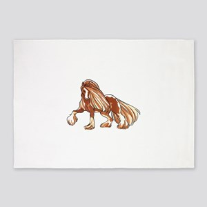 CLYDESDALE HORSE LARGER 5'x7'Area Rug
