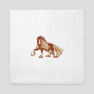 CLYDESDALE HORSE LARGER Queen Duvet