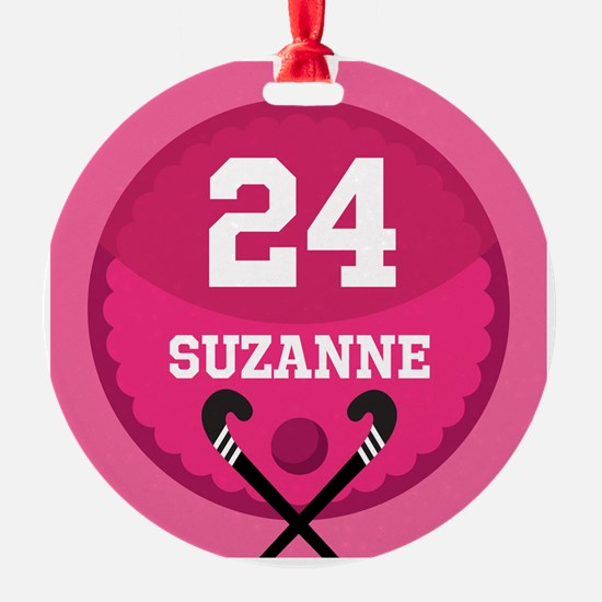 Field Hockey Personalized Girls Ornament