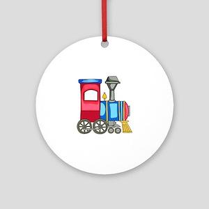 TOY TRAIN Ornament (Round)