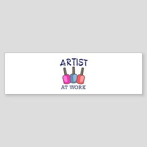 ARTIST AT WORK Bumper Sticker