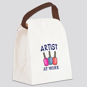 ARTIST AT WORK Canvas Lunch Bag