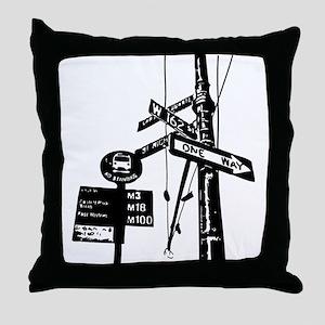 Street Signs Throw Pillow