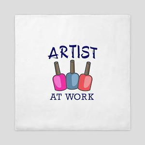 ARTIST AT WORK Queen Duvet