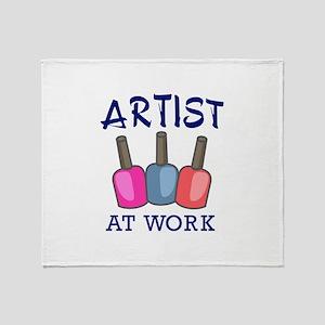 ARTIST AT WORK Throw Blanket