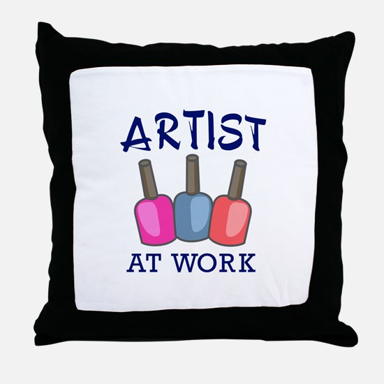 ARTIST AT WORK Throw Pillow
