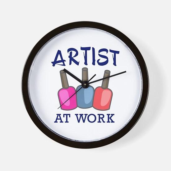 ARTIST AT WORK Wall Clock