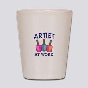 ARTIST AT WORK Shot Glass