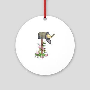 BIRD ON MAILBOX Ornament (Round)