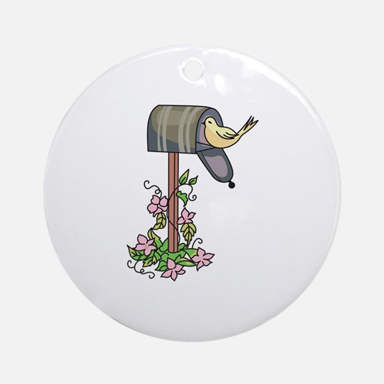 BIRD ON MAILBOX Ornament (Round)