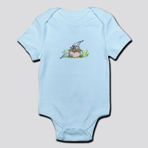 BIRDS AND FLOWER BASKET Body Suit