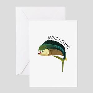 SPORT FISHING Greeting Cards