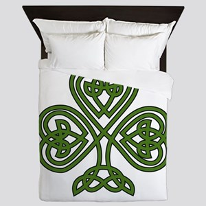 Celtic Shamrock - St Patricks Day Queen Duvet
