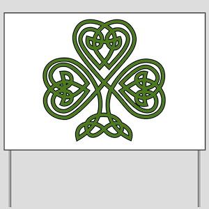 Celtic Shamrock - St Patricks Day Yard Sign