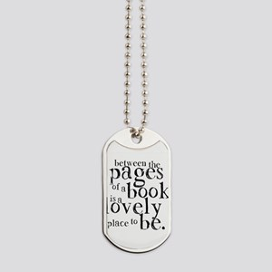 Between the Pages Dog Tags