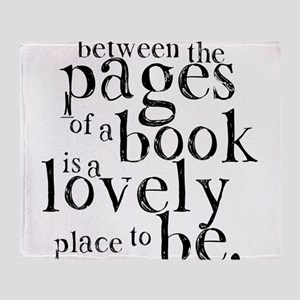 Between the Pages Throw Blanket