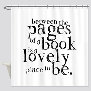 Between the Pages Shower Curtain