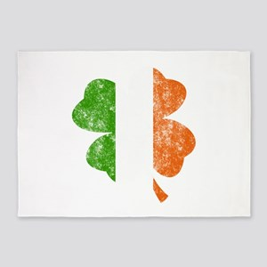 Irish St Patricks Day Shamrock - Wa 5'x7'Area Rug