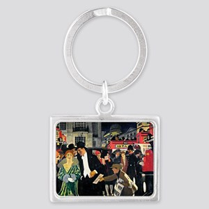 London: Piccadilly vintage pain Landscape Keychain