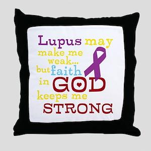 God Strong Throw Pillow