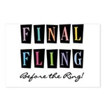 Final Fling Bright Colors Postcards (Package of 8)
