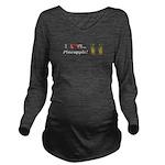 I Love Pineapple Long Sleeve Maternity T-Shirt
