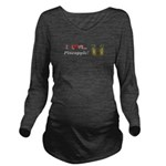 I Love Pineapple Long Sleeve Maternity T-Shirt
