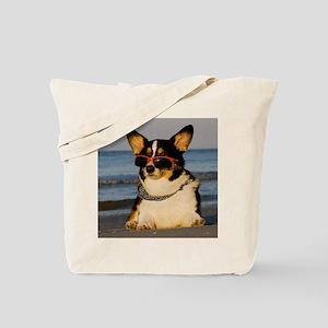 Cool Beach Dog Tote Bag